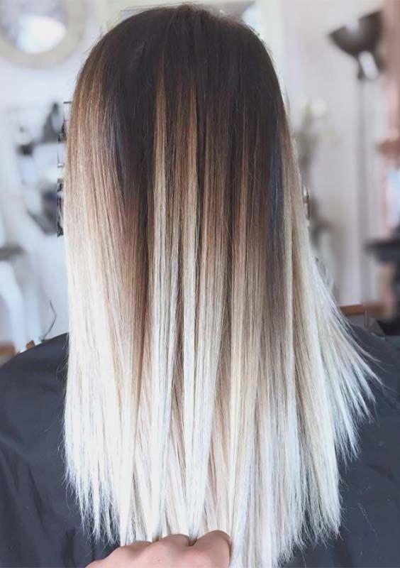 Μπαλαγιάζ σε μαύρα μαλλιά