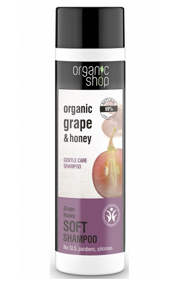 Organic shop Shampoo Grape Honey , Απαλό σαμπουάν