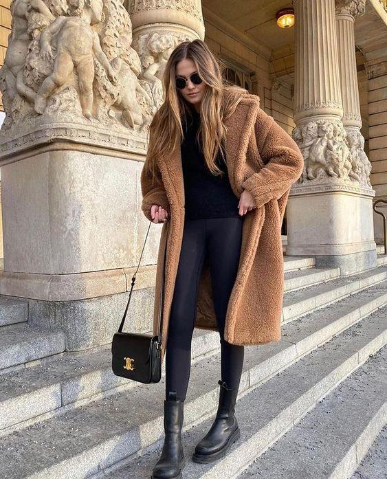 Πώς να φορέσεις teddy παλτό