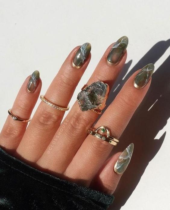 Νύχια με εφέ μαρμάρου - The Cover