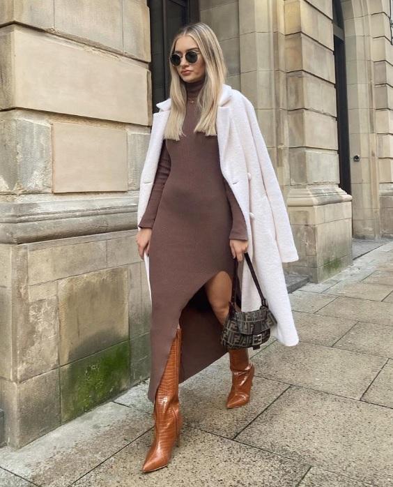 Πώς να φορέσεις πλεκτό φόρεμα