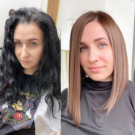Σε ποιες ταιριάζουν τα μαύρα μαλλιά και σε ποιες όχι - The Cover
